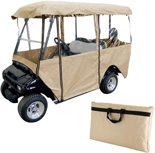 Happybuy Golf Cart Cover 4-Sided Golf Cart Enclosure