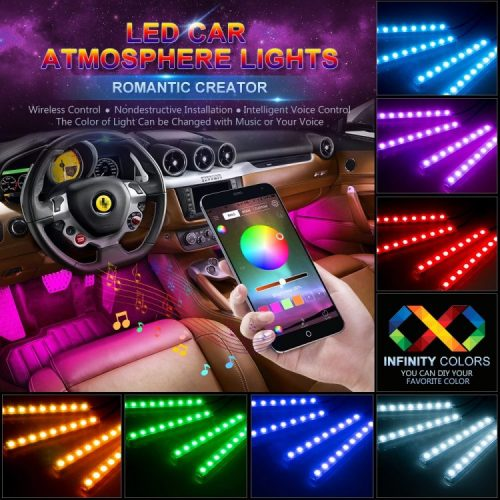 Wsiiroon Car LED Strip Lights with Sound Active
