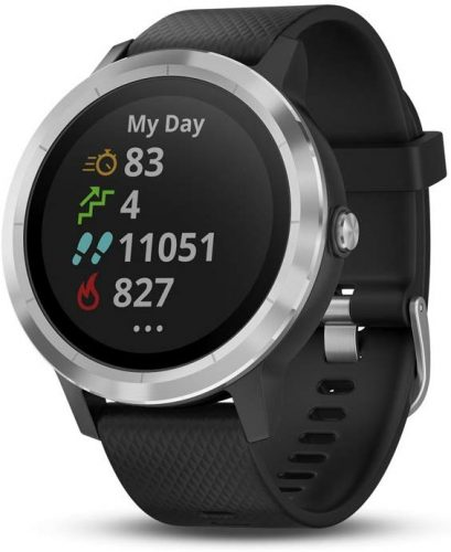 Garmin Vívoactive 3, GPS Smartwatch with Contactless Payments and Built-In Sports APPS, Black with Silver Hardware