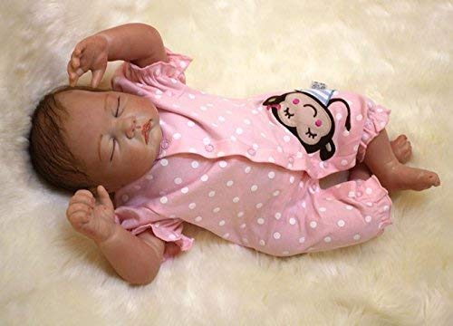 "OCSDOLL Reborn Baby Dolls 22"" Cute Realistic Soft Silicone Vinyl Dolls Newborn Baby Dolls with Clothes"