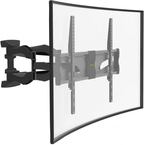 CHARMOUNT TV Wall Mount Bracket Full Motion Premium Dual Swivel Articulating Tilting Arms for Most 40-75 inch 4K Flat Panel Curved Monitor Screen TVs, Heavy Duty Design - Max VESA 600x400mm 99lbs