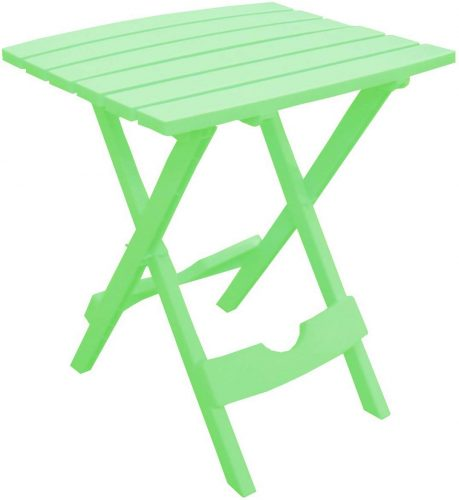 Adams Manufacturing 8500-08-3700 Plastic Quik-Fold Side Table, Summer Green