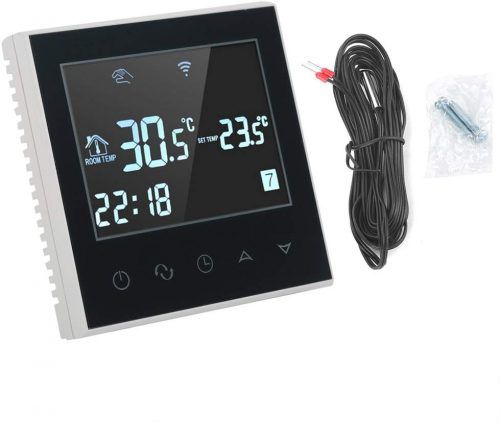 Yosooo Programmable WIFI Heating Thermostat Wireless Digital LCD Touch Screen App Control Temperature Controller 110V(Black)