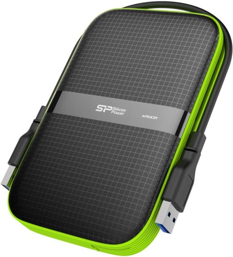 Silicon Power Black 1TB Rugged Portable External Hard Drive Armor A60
