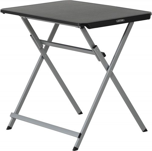 Lifetime Small Folding Table, Personal TV Tray - Portable - great for Kids, Camping, Cards, or Laptops - Plastic Black 30 Inch (80623)