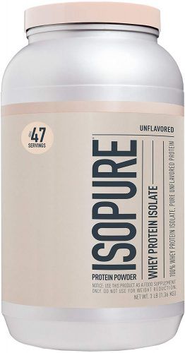 Roll over image to zoom in Isopure Zero Carb, Keto Friendly Protein Powder, 100% Whey Protein Isolate, Unflavored, 3 Pound