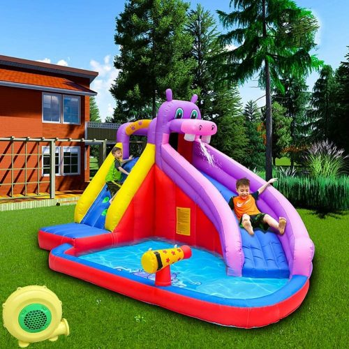 CATLXC PVC Inflatable Water Slide