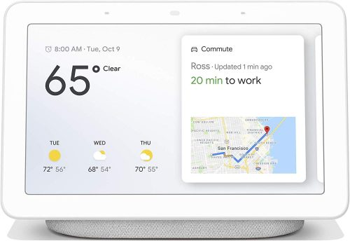"GL1234 Home Hub with Voice-Activated Assistant - 7"" Smart Touchscreen (Chalk White)"