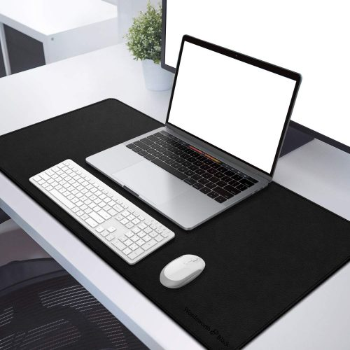 "WORDSWORTH & BLACK Leather Desk Mat - Premium Vegan Leather Desk Pad - Double Sided Desk Mat - Ultra Ergocomfort Technology - 31.5""x15.7"""