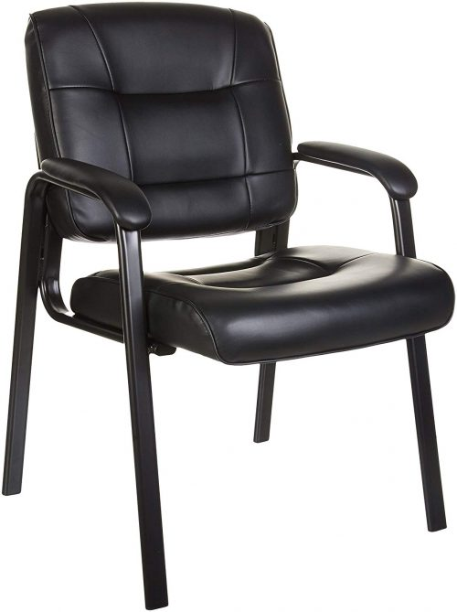 AmazonBasics Guest Chair, Black - waiting room chairs