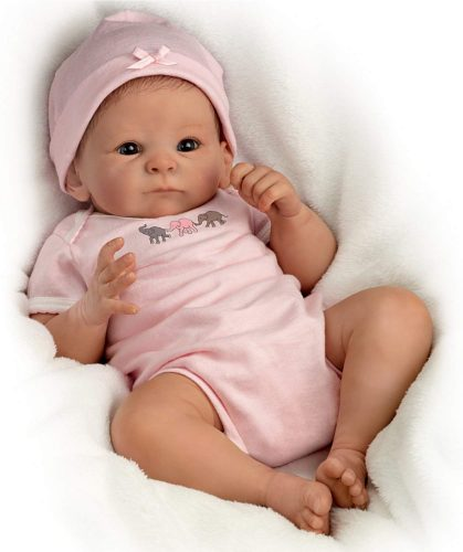 The Ashton - Drake Galleries Tasha Edenholm So Truly Real Lifelike Poseable Baby Girl Doll: Little Peanut - 17""