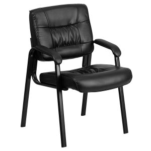 Flash Furniture Black Leather - waiting room chairs