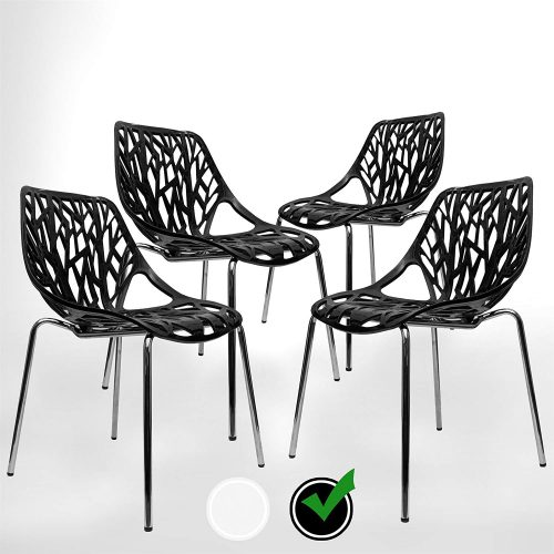 UrbanMod BLACK Modern Dining Chair - waiting room chairs