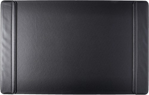 "Artistic 24"" x 38"" Sagamore Executive Desk Pad with Padded Flip Side Rails, Black (5133-8-1)"