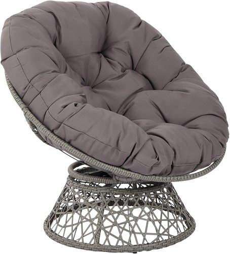 OSP Designs Papasan Chair, Grey