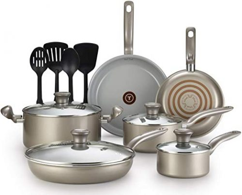 T-fal G919SE64 Toxic-Free 14-Piece Cookware Set - Cookware Sets