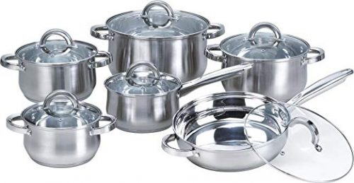 Heim Concept Kitchen Cookware Stainless Steel Pots and Pans Set - Cookware Sets