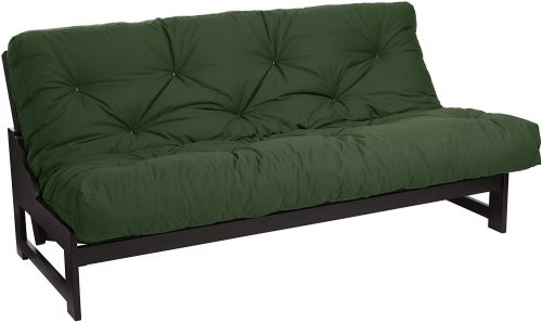 Mozaic Full Size 6-inch Cotton Twill Futon Mattress, Hunter Green