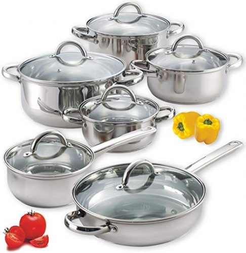 Cook N Home NC-00250 Stainless Steel Cookware Set - Cookware Sets