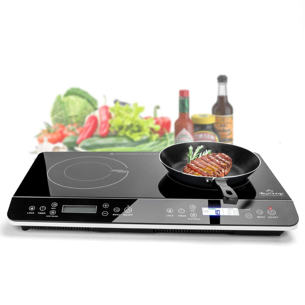 Duxtop 9620LS LCD Portable Double Induction Cooktop - Portable Electric Stove Top