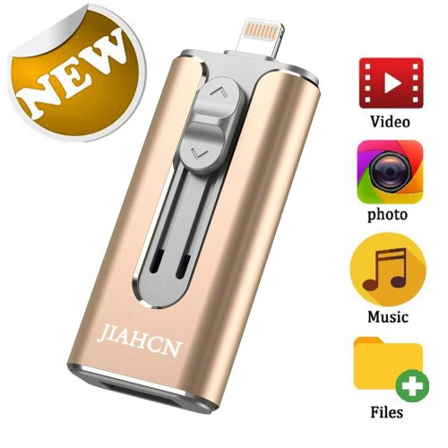 JIAHCN iPhone External Storage USB 3.0 Mobile Memory Stick for iPhone