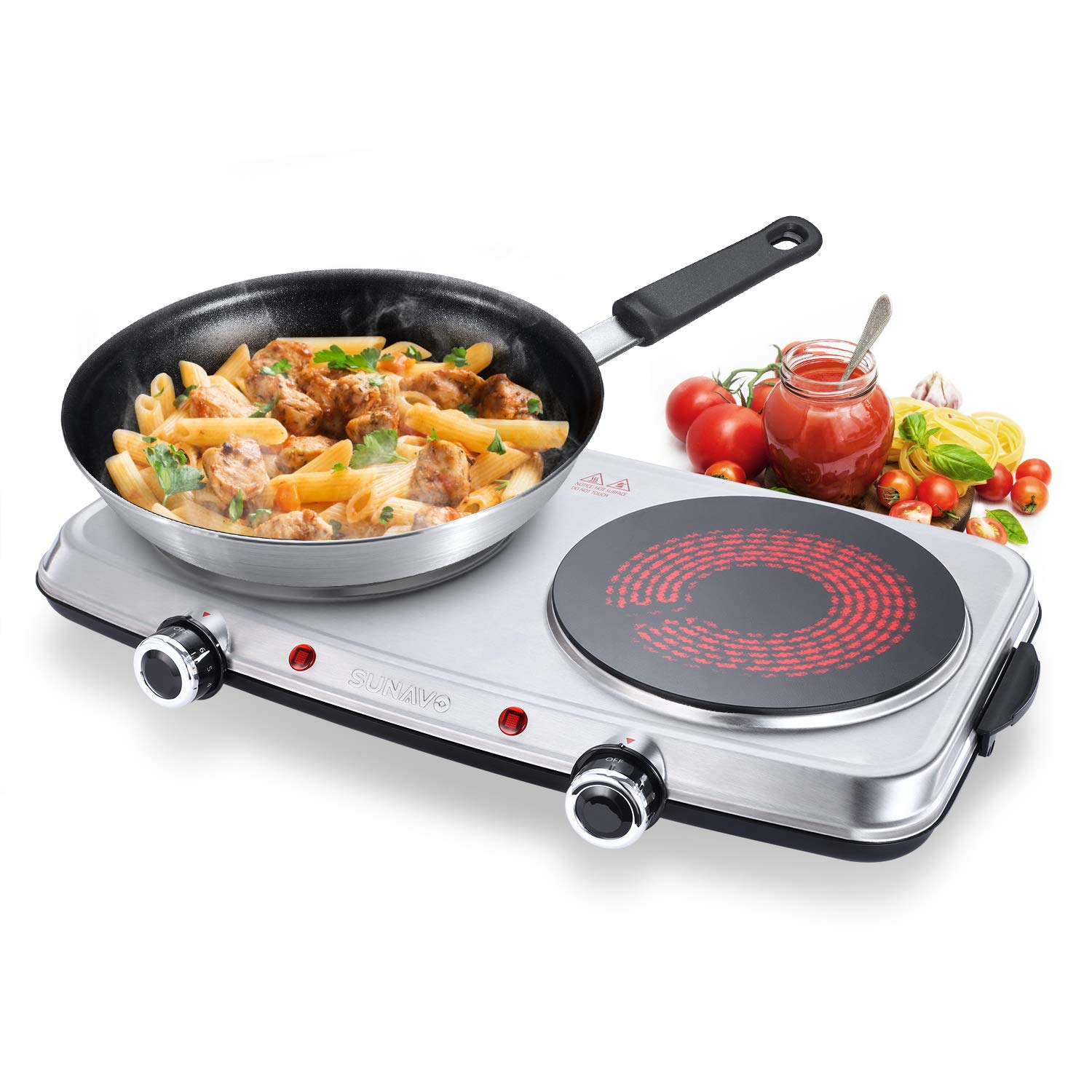 SUNAVO Electric Infrared Burner - Portable Electric Stove Top