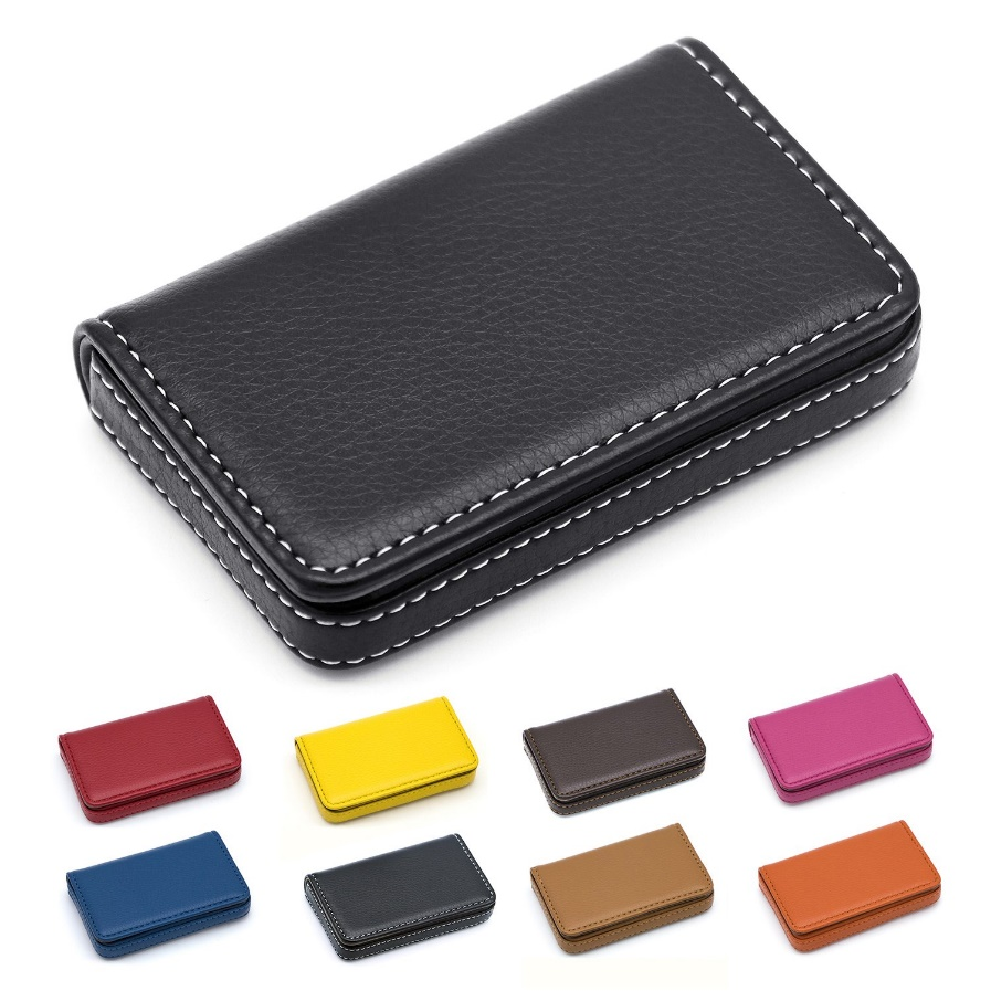 Padike Business Name Card Holder Luxury PU Leather