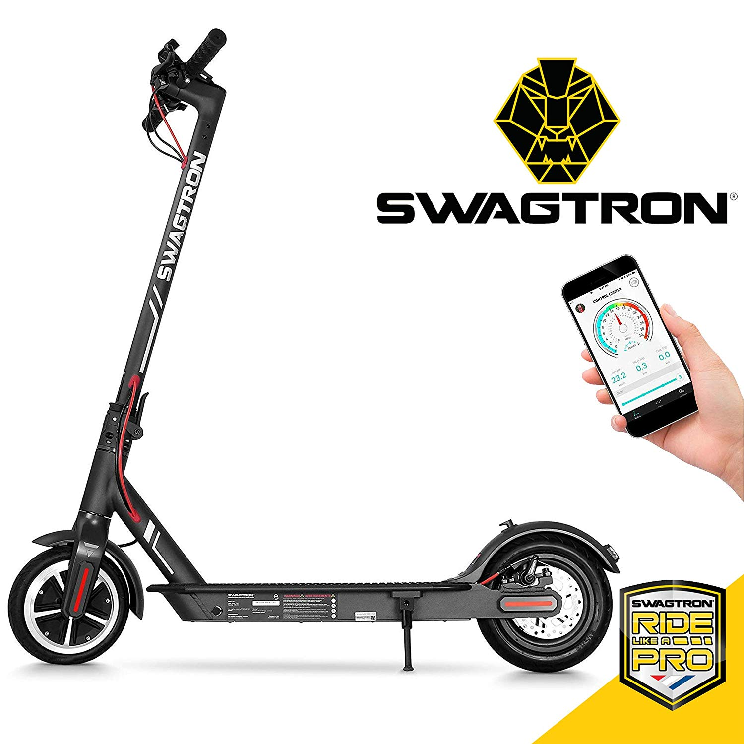 Swagtron High-Speed Electric Scooter with 8.5