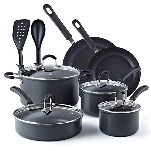 Cook N Home 02597 - Hard Anodized Cookware Sets