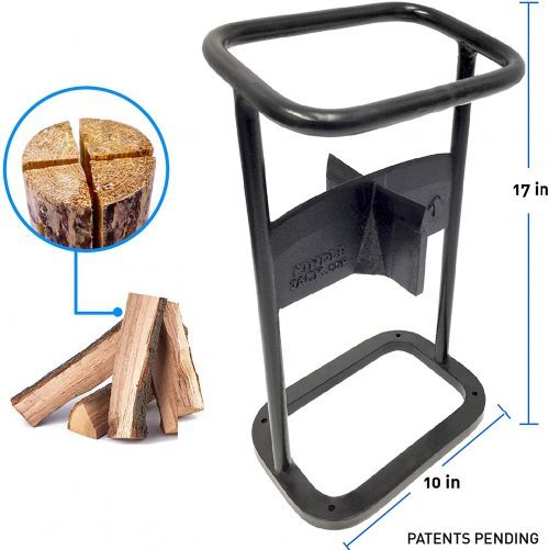 EasyGoProducts Jack Axe Wedge Firewood Kindling Tool Cuts 4 Ways- Wood Log Cracker Splitter- Patent Pending