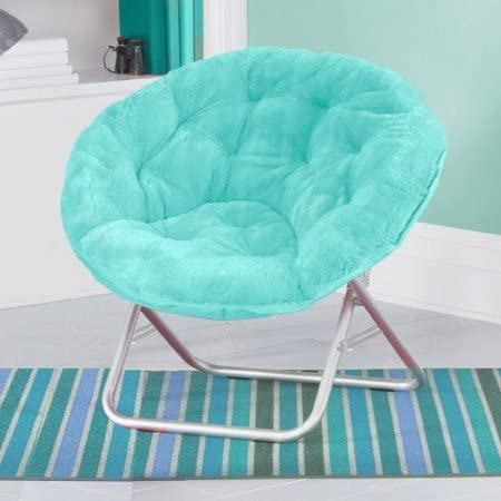 Mainstays Faux-Fur Saucer Chair with Cool faux-fur fabric, soft and wide seat