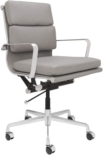 SOHO Soft Pad Management Chair (Grey)