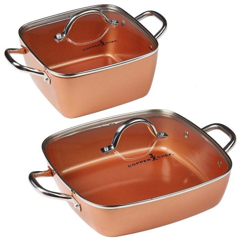 Copper Chef 4-Piece Deep Casserole Pan Set (8 by 12)