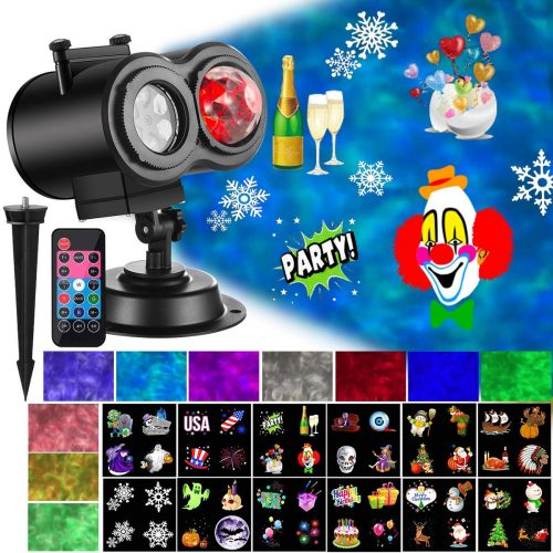 Ocean Wave Christmas Projector Lights - Outdoor Laser Lights For Christmas