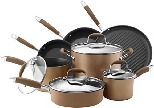 Anolon 82693 Hard-Anodized Nonstick Cookware Pots and Pans - Hard Anodized Cookware Sets