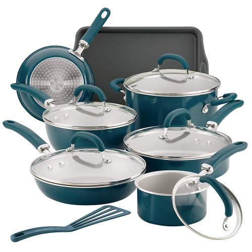 Rachael Ray 12144 Create Delicious Nonstick Cookware Pots and pans Set