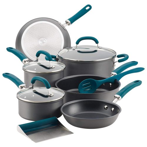 Rachael Ray 81123 Create Delicious Hard-Anodized Nonstick Cookware Pots and Pans Set