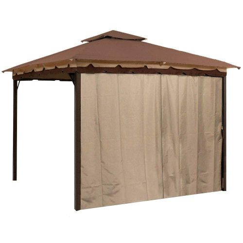 Sunjoy Gazebo Privacy Panel Side Wall fits 10' and 12' Gazebos (Brown Four Pack)