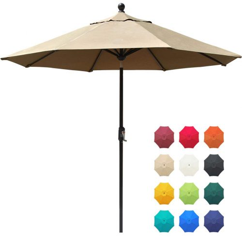 EliteShade Sunbrella 9Ft Market Umbrella