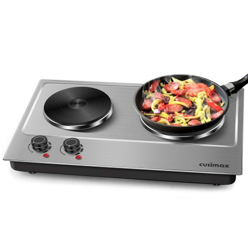 Cusimax Hot Plate Electric Double Burner