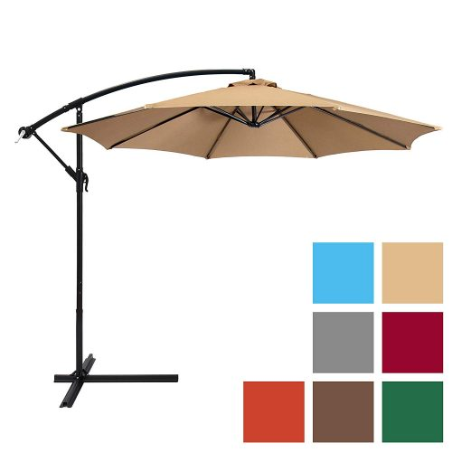 Best Choice Products 10ft Offset Hanging Market Patio Umbrella