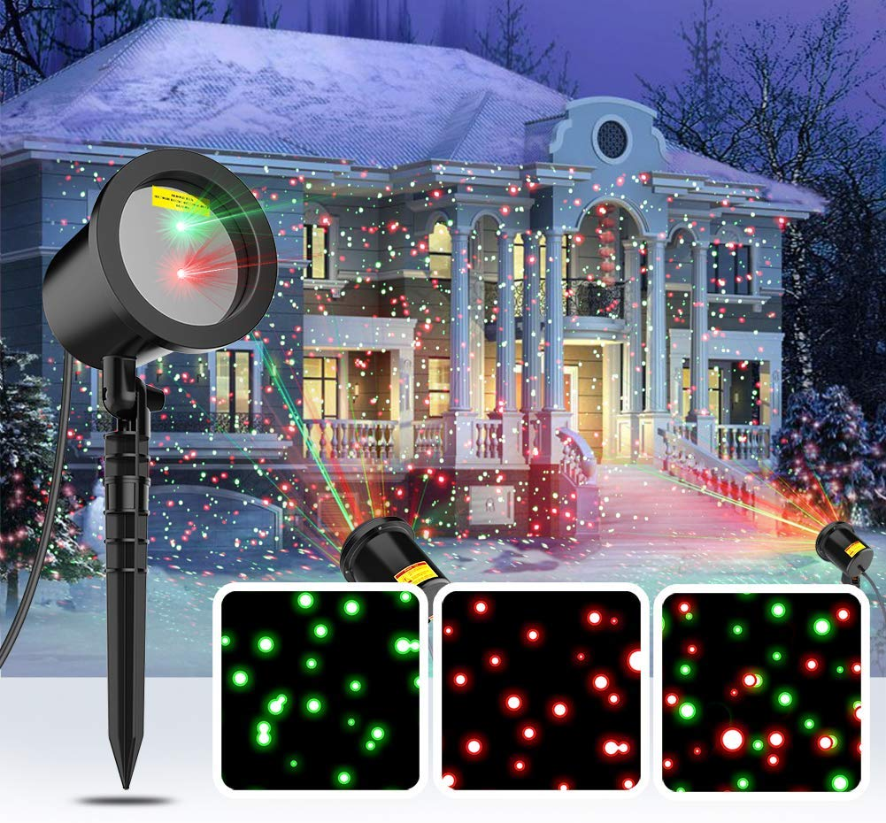 COOWOO Christmas Laser Lights - Outdoor Laser Lights For Christmas