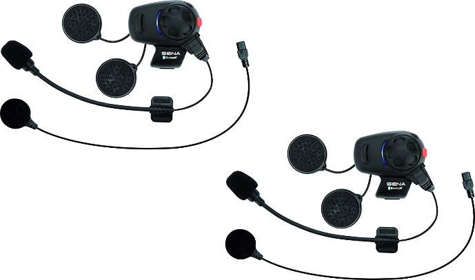Sena SMH5D-UNIV Bluetooth Headset and Intercom for Scooters/Motorcycles with Universal Microphone Kit (Dual Pack)