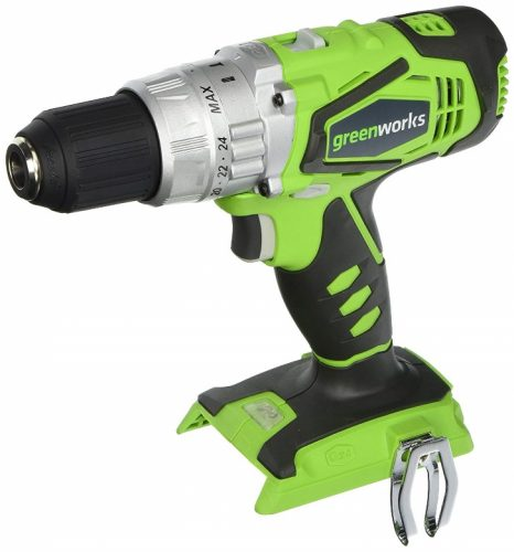 Greenworks 24V 2-Speed Cordless Hammer Drill, Battery Not Included 3700502A