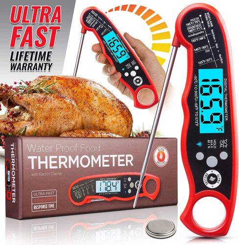 Alpha Grillers Instant Read Meat Thermometer for Grill and Cooking - Cool Kitchen Gadgets