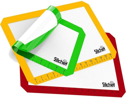 Silicone Baking Mats - Set of 3 - Baking Mats Non Stick Silicone BPA Free with Measurements