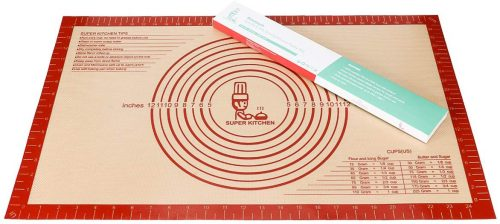 Large Silicone Pastry Baking Mat with Measurements