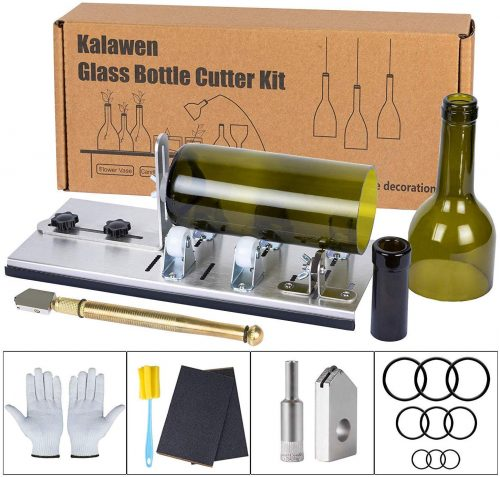 Kalawen Glass Bottle Cutter Bottle Cutter for Cutting Wine Beer Whiskey Alcohol Champagne