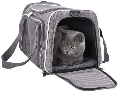 petisfam Top Load Cat Carrier for Medium Cats