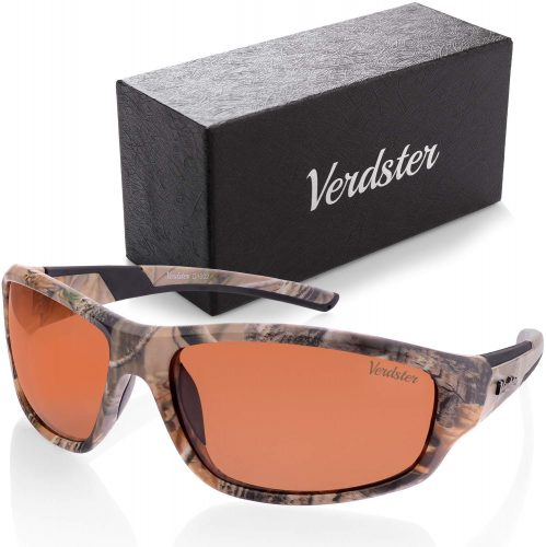 Verdster CAMO POLARIZED Sunglasses For Men and Women - UV Protection - Great for Driving, Fishing and Other Outdoor Sports - Case, Pouch & Cleaning Cloth Included
